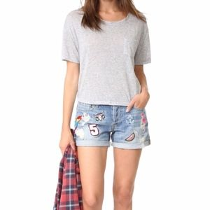 NEW Rails Logan Patchwork Denim Shorts Cute!